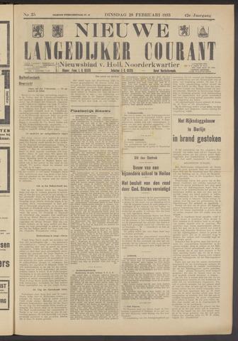 Nieuwe Langedijker Courant 1933-02-28