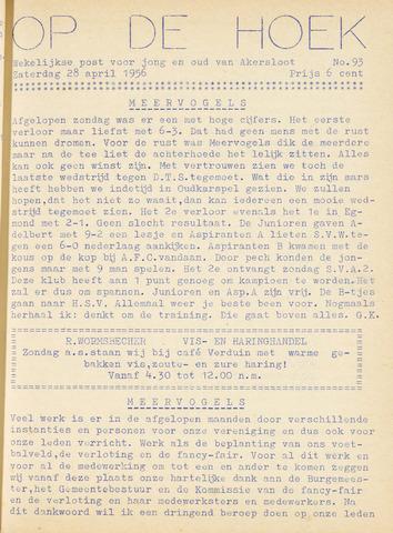 Op De Hoek, weekblad voor Akersloot 1956-04-28