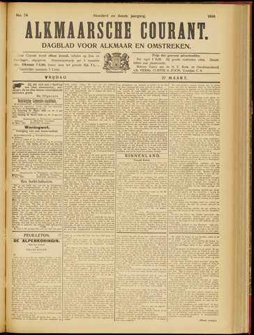 Alkmaarsche Courant 1908-03-27
