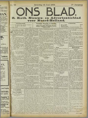 Ons Blad : katholiek nieuwsblad voor N-H 1909-06-19