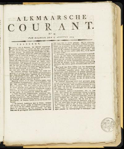 Alkmaarsche Courant 1815-08-14