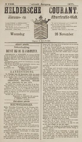 Heldersche Courant 1873-11-26