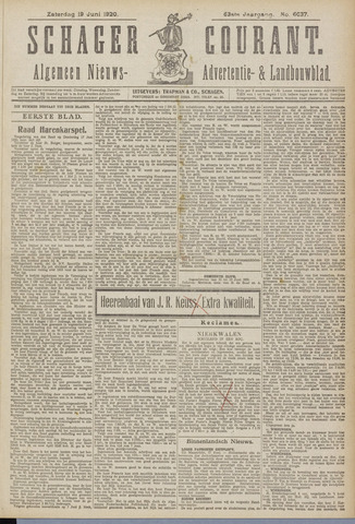 Schager Courant 1920-06-19