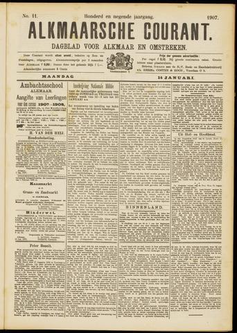 Alkmaarsche Courant 1907-01-14