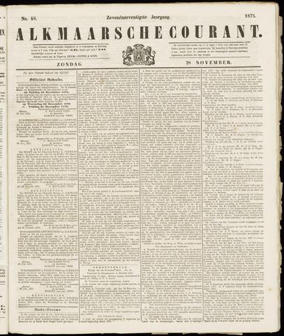 Alkmaarsche Courant 1875-11-28