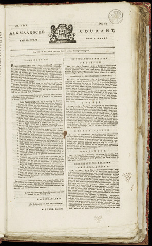 Alkmaarsche Courant 1818-03-09