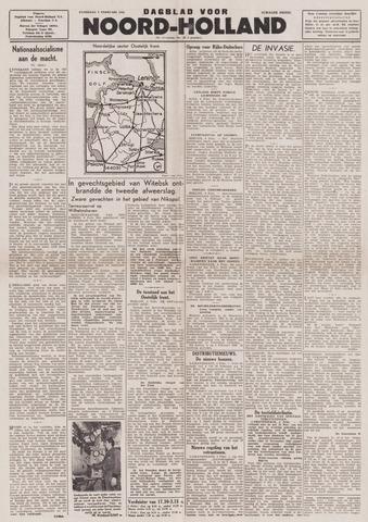 Dagblad Noord-Holland, Schager editie 1944-02-05