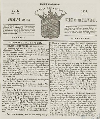 Weekblad van Den Helder en het Nieuwediep 1853-01-31