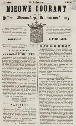 Nieuwe Courant van Den Helder 1864-02-03