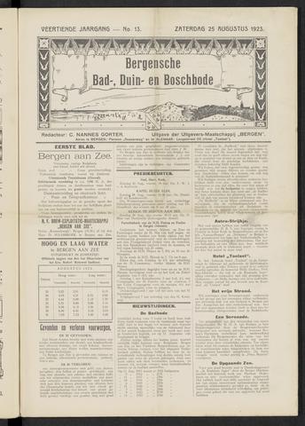 Bergensche bad-, duin- en boschbode 1923-08-25