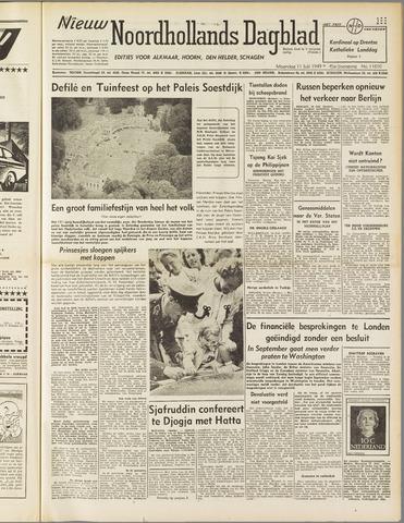 Nieuw Noordhollandsch Dagblad : voor Alkmaar en omgeving 1949-07-11