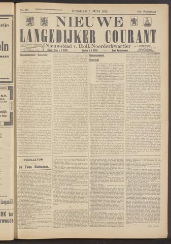 Nieuwe Langedijker Courant 1932-06-07