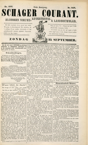 Schager Courant 1881-09-25