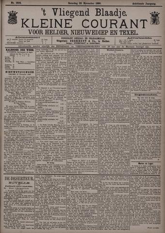Vliegend blaadje : nieuws- en advertentiebode voor Den Helder 1890-11-22