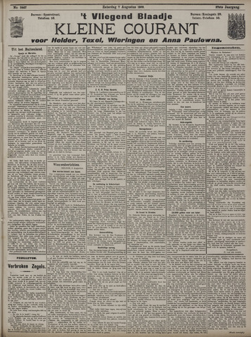 Vliegend blaadje : nieuws- en advertentiebode voor Den Helder 1909-08-07