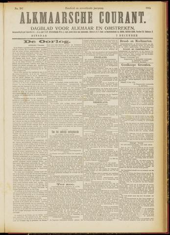 Alkmaarsche Courant 1915-12-07