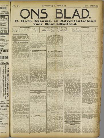 Ons Blad : katholiek nieuwsblad voor N-H 1911-05-10