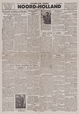 Dagblad Noord-Holland, Schager editie 1943-09-14