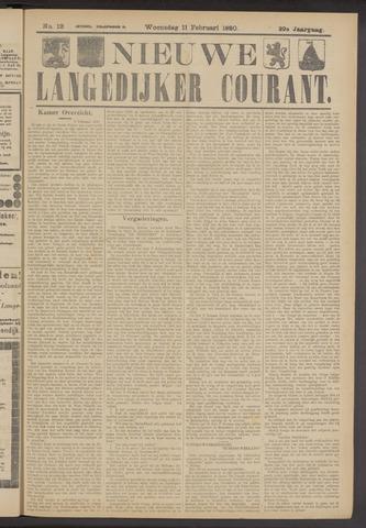 Nieuwe Langedijker Courant 1920-02-11