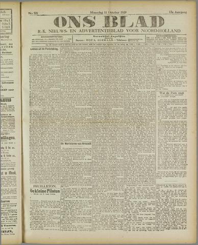 Ons Blad : katholiek nieuwsblad voor N-H 1920-10-11