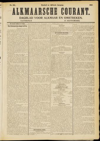 Alkmaarsche Courant 1913-09-27