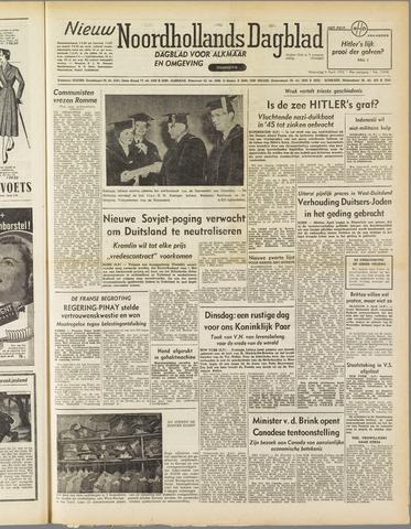 Nieuw Noordhollandsch Dagblad : voor Alkmaar en omgeving 1952-04-09