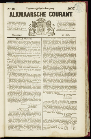 Alkmaarsche Courant 1857-05-25