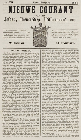 Nieuwe Courant van Den Helder 1864-08-24