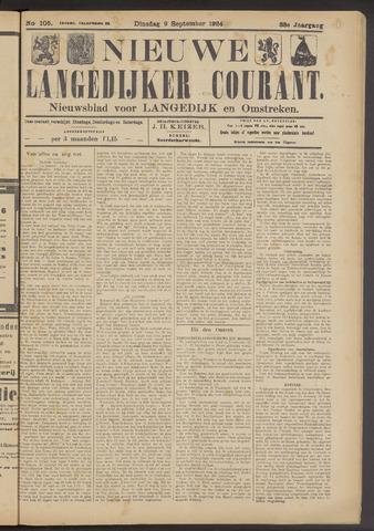 Nieuwe Langedijker Courant 1924-09-09
