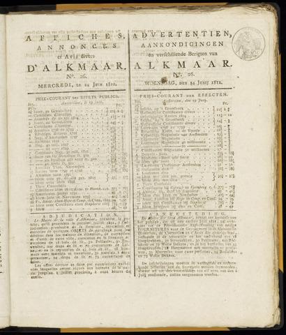 Alkmaarsche Courant 1812-06-24