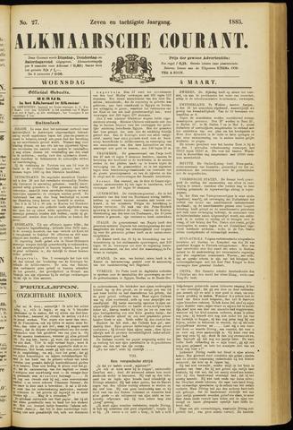 Alkmaarsche Courant 1885-03-04