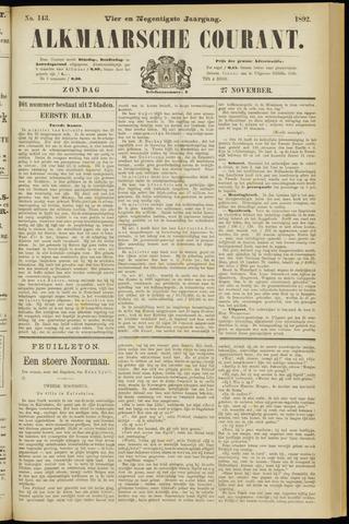 Alkmaarsche Courant 1892-11-27