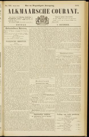 Alkmaarsche Courant 1894-12-02