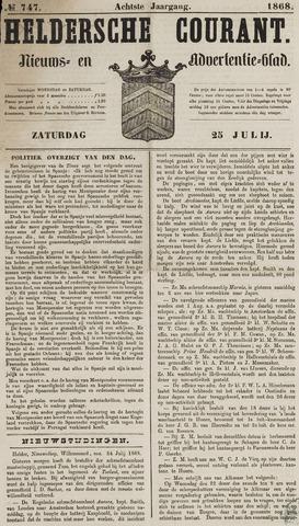 Heldersche Courant 1868-07-25