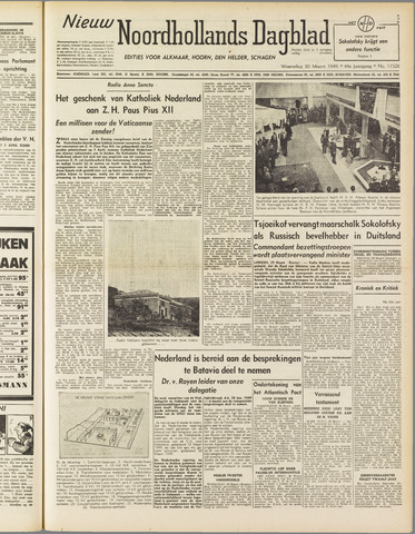 Nieuw Noordhollandsch Dagblad : voor Alkmaar en omgeving 1949-03-30
