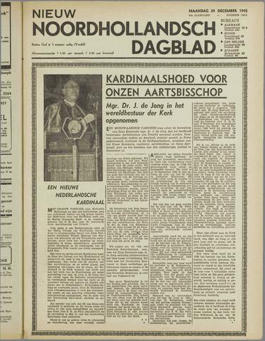Nieuw Noordhollandsch Dagblad : voor Alkmaar en omgeving 1945-12-24