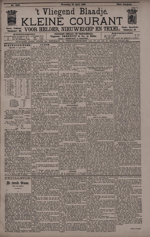 Vliegend blaadje : nieuws- en advertentiebode voor Den Helder 1896-04-22