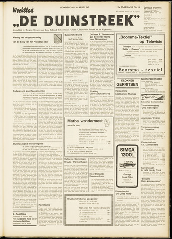 De Duinstreek 1967-04-20