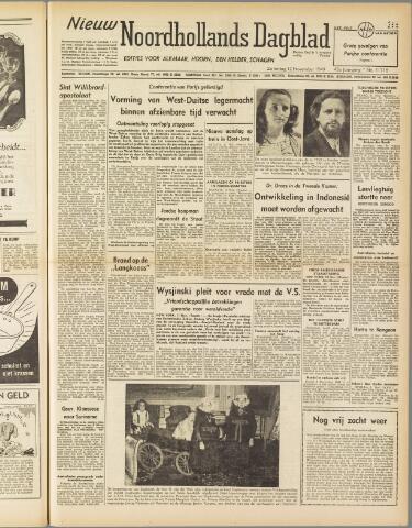 Nieuw Noordhollandsch Dagblad : voor Alkmaar en omgeving 1949-11-12
