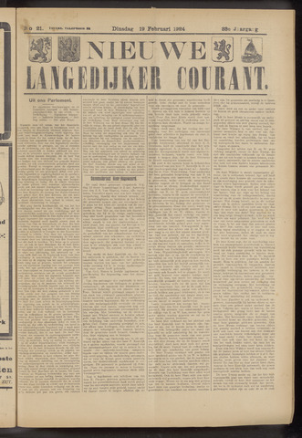 Nieuwe Langedijker Courant 1924-02-19
