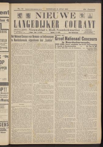 Nieuwe Langedijker Courant 1931-07-21