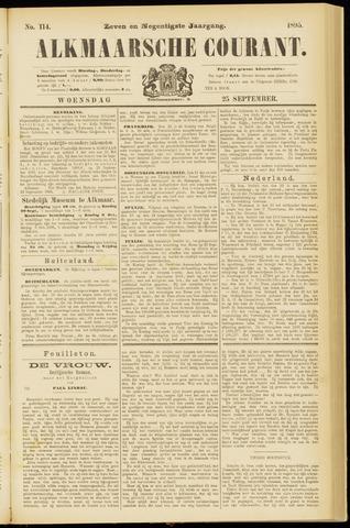 Alkmaarsche Courant 1895-09-25