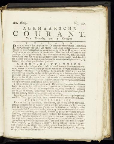 Alkmaarsche Courant 1804-10-01
