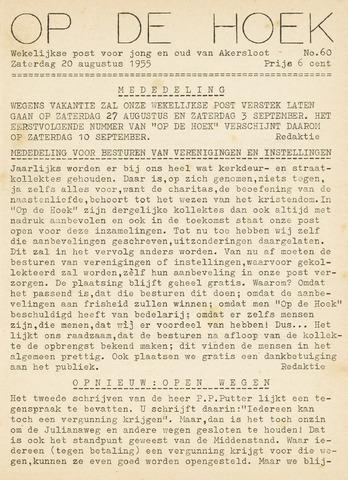 Op De Hoek, weekblad voor Akersloot 1955-08-20