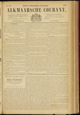 Alkmaarsche Courant 1896-04-15