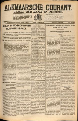 Alkmaarsche Courant 1939-08-22