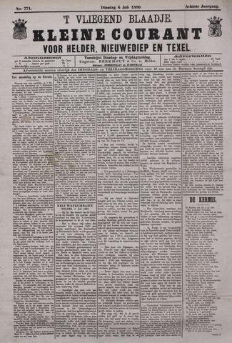 Vliegend blaadje : nieuws- en advertentiebode voor Den Helder 1880-07-06