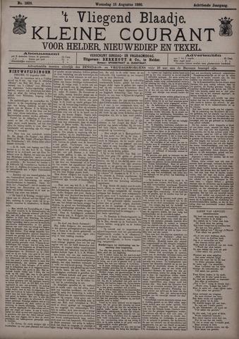 Vliegend blaadje : nieuws- en advertentiebode voor Den Helder 1890-08-13