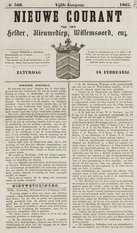Nieuwe Courant van Den Helder 1865-02-18