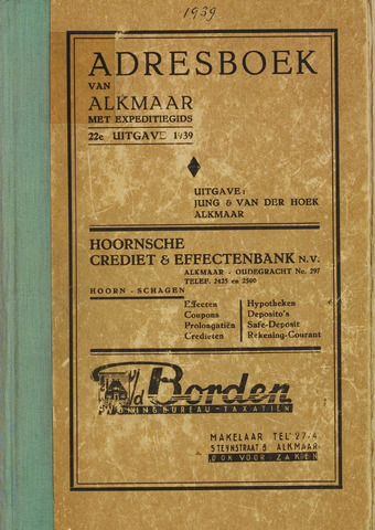 Adresboek van Alkmaar 1939-01-01